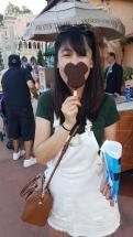 Kwangdao and her Mickey Ice Cream