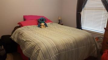 ห้องนอนรับแขกที่คราวก่อนก็มานอน เหมือนเดิมทุกอย่าง เพิ่มเติมคือหนูสติทช์ของเลาเอง
