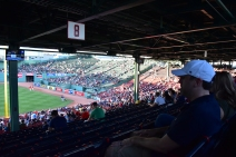 First time at a baseball game in my whole life